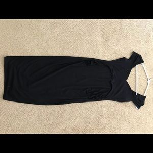 ASOS Maternity black dress.